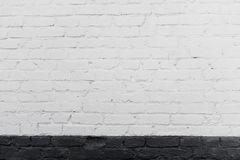 White background of old brick wall texture with delicate vignetting royalty free stock photo