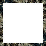 White Background with Ornate Borders. White background stationery design with elegant decorated borders stock illustration