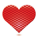 White background with red Heart Royalty Free Stock Photos