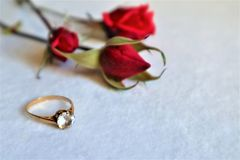 White background with gifts. The concept of Valentine Day stock images