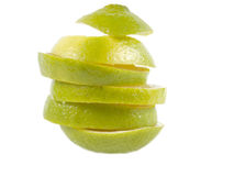 Pieces of a lime Royalty Free Stock Photo