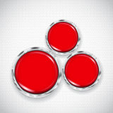 White background with small circles and three buttons Royalty Free Stock Photos