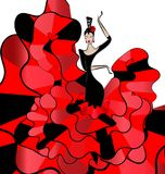 Woman dancer flamenko Royalty Free Stock Images
