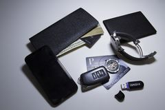 Set of business items stock photo