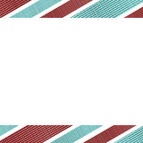 White Background with Stripes Borders Stock Images