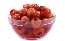 Syrup hawthorn red fruit food royalty free stock images