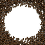 White background for text surrounded by coffee beans Stock Photography