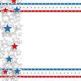 White Background USA Double Stars Cover. White independence day background design with US-Flag stripes Royalty Free Stock Photography