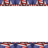 White Background with Usa Flag Pattern Borders Stock Images