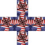White Background with Usa Flag Pattern Borders Royalty Free Stock Photo