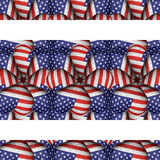 White Background with Usa Flag Pattern Borders Royalty Free Stock Image