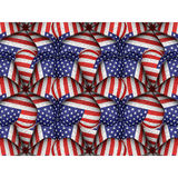 White Background with Usa Flag Pattern Borders Stock Photos