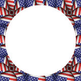 White Background with Usa Flag Pattern Borders Royalty Free Stock Photography