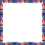 White Background with Usa Flag Pattern Borders Stock Image