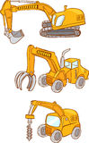 White background Vector illustration of a Heavy machines Stock Image