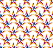 White background vector star. Seamless pattern Stock Photography
