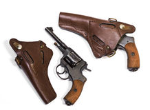White background weapons pistol revolver Royalty Free Stock Image