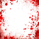 White background whit red blood splatters borders Stock Image