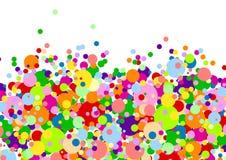 White Background With Many Multicoloured Balls Royalty Free Stock Photo