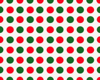 White background wth red and green dots Royalty Free Stock Image