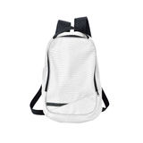White backpack isolated with path Royalty Free Stock Image