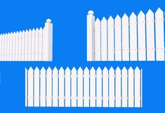 White Backyard Fence Stock Photos