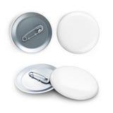 White badge 3d Illustrations Stock Photo