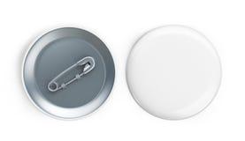 White badge 3d on a white background Royalty Free Stock Photos