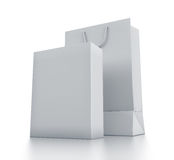 White bag and box. Royalty Free Stock Photos