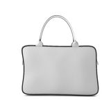 White bag with zipper front view Royalty Free Stock Photography