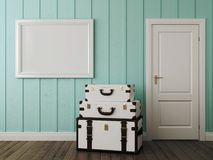 White bags in the interior Stock Photography
