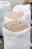 White bags of salt Royalty Free Stock Photos