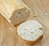 White baguette with slice Royalty Free Stock Photo