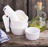 White baking dish Stock Photography