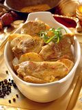 Baked lamb and potato curry. royalty free stock image