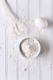 White Baking Still Life Royalty Free Stock Images