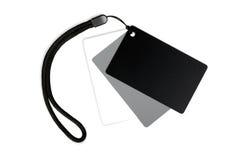 White balance card set. Royalty Free Stock Photo