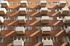 White balconies Royalty Free Stock Photography