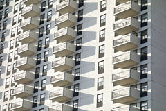 White Balconies Royalty Free Stock Image