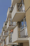 White balconies Stock Image