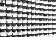 White balconies pattern Royalty Free Stock Photography