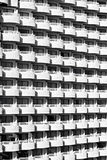 White balconies pattern Royalty Free Stock Photo