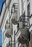 White balconies Stock Photos