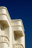 White Balcony. White traditional portuguese building white balconies Stock Photos