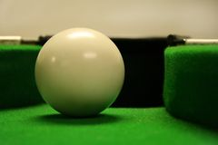 White ball. In snooker pocket Royalty Free Stock Image