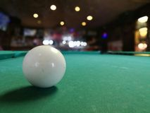 A white ball closeup. Royalty Free Stock Photo
