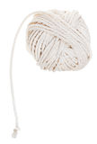 White ball of cotton rope isolated Stock Images