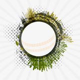 White ball for Cricket. Stock Image