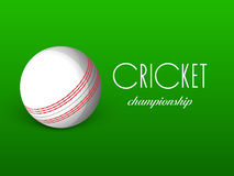 White ball for Cricket sports concept. Royalty Free Stock Image