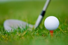 White ball golf Royalty Free Stock Photos